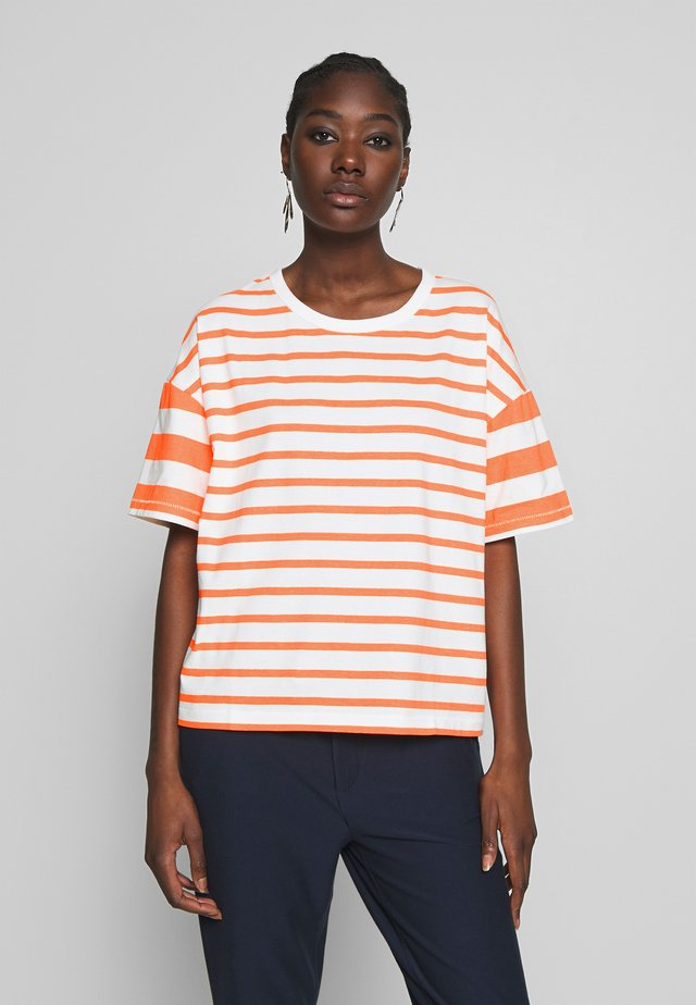 Print T-shirt - multi/flash orange