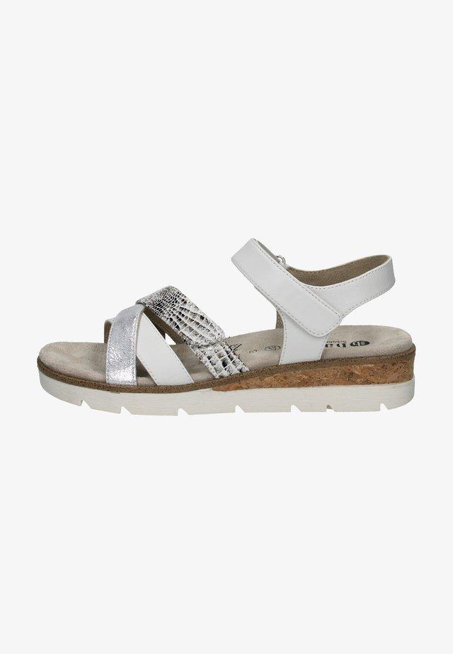Sandalen met plateauzool - weiss/kombiniert
