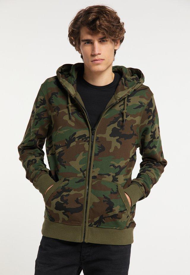 Felpa aperta - camouflage