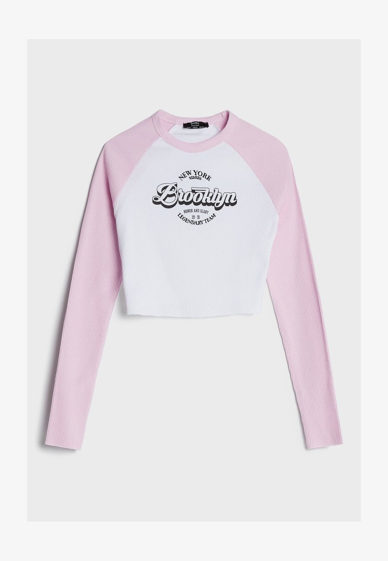 Bershka - Maglietta a manica lunga - pink