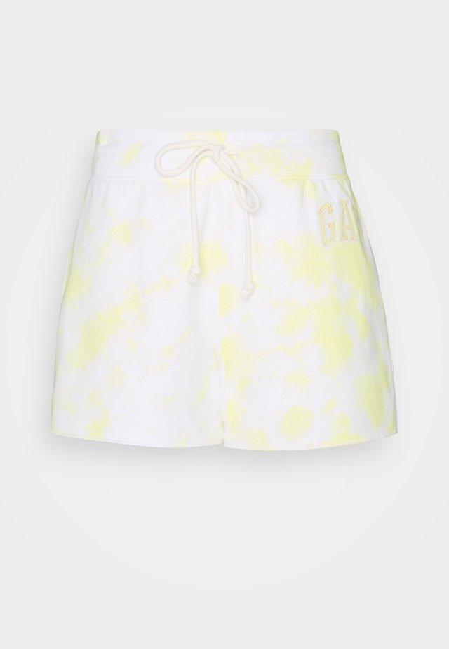 HERITAGE - Spodnie treningowe - yellow tie dye
