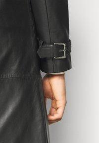 STUDIO ID - CHRISTIAN LEATHER COAT - Leather jacket - black - 5