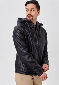INDICODE JEANS - ECKROTE - Faux leather jacket - black - 4