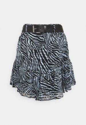ZEBRA MINI SKIRT - Mini skirt - light blue