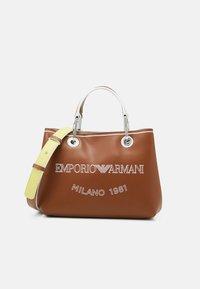 Emporio Armani - MYEA SIMILNAP LOGO SET - Handbag - tobac/lemon/white - 1