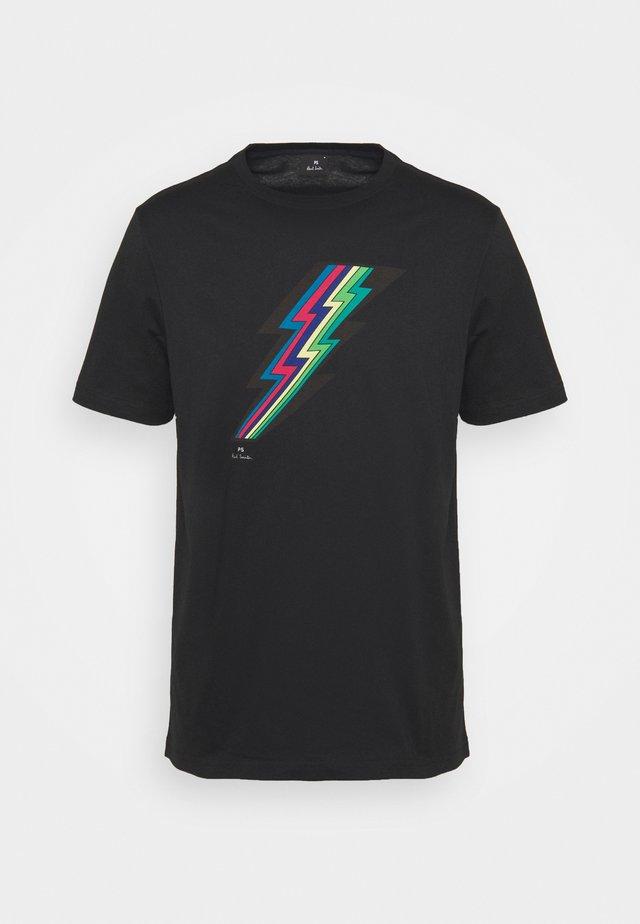 MENS REGULAR FIT LIGHTNING - T-shirt print - black