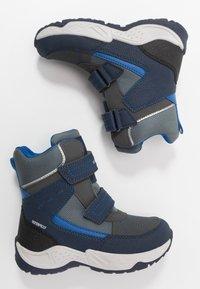 Geox - SENTIERO BOY WPF - Winter boots - navy/royal - 0