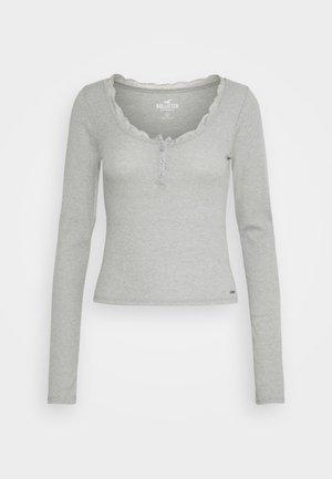 BUTTON THRU HENLEY - T-shirt à manches longues - grey