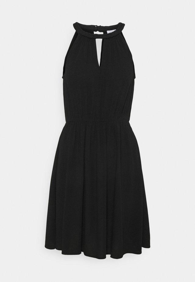 VIMESA BRAIDED SHORT DRESS - Freizeitkleid - black