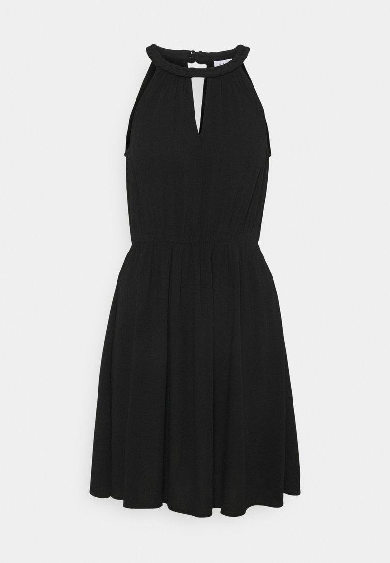 Vila - VIMESA BRAIDED SHORT DRESS - Day dress - black