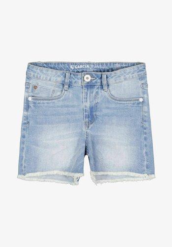 RIANNA - Denim shorts - stoned blue