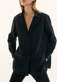 Massimo Dutti - Button-down blouse - black - 5