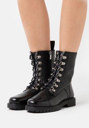 NEW JOLINE - Bottines à lacets - black