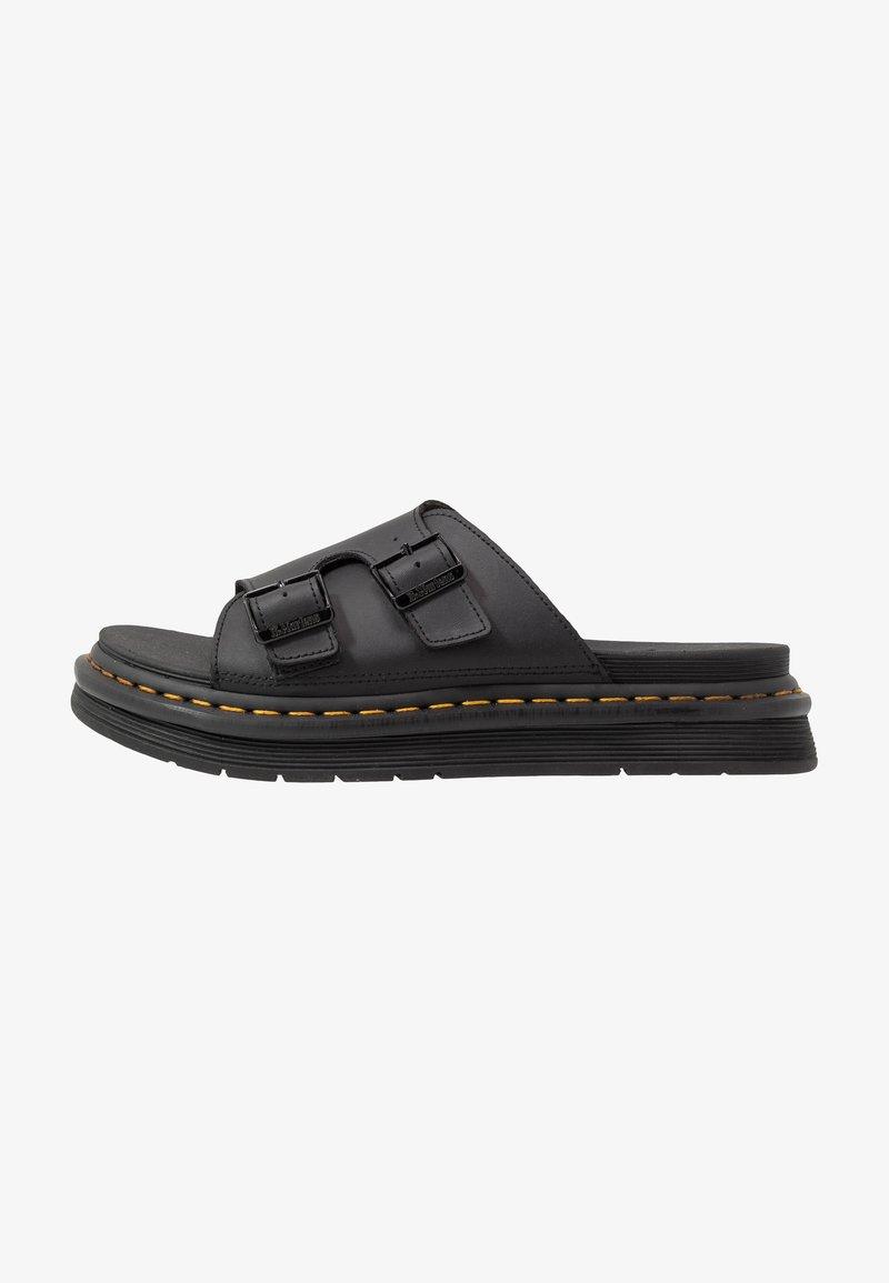 Dr. Martens - DAX SLIDER - Pantofle - black hydro