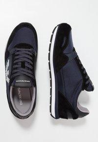 Emporio Armani - Trainers - black/blue - 1
