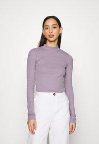 Weekday - VERA MOCKNECK - Long sleeved top - lilac - 0