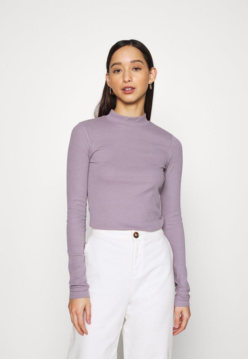 Weekday - VERA MOCKNECK - Long sleeved top - lilac
