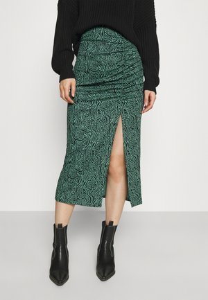 ONLJESSY ROUCHING SKIRT - Pencil skirt - balsam green/black