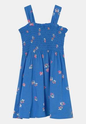 Smocked Floral Dress - Korte jurk - blue