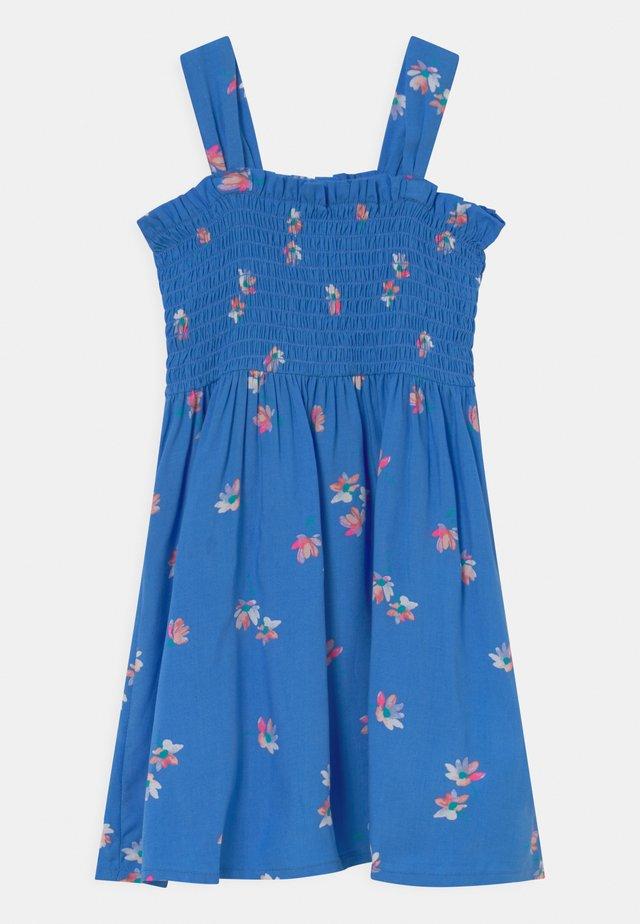 Smocked Floral Dress - Robe d'été - blue