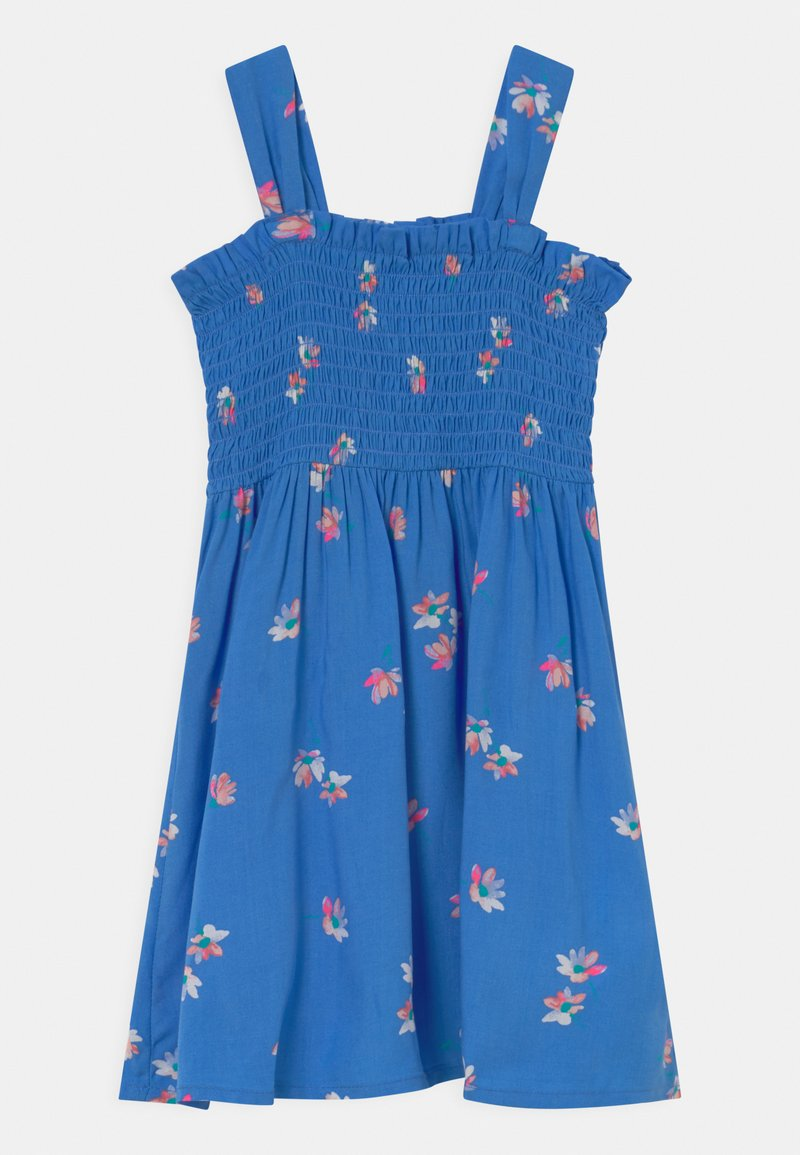 OshKosh - Smocked Floral Dress - Day dress - blue