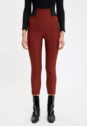 Leggings - Trousers - brown