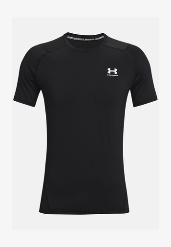 ARMOUR FITTED - Print T-shirt - black
