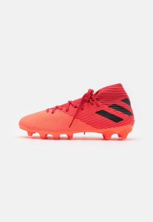 NEMEZIZ 19.3 FOOTBALL BOOTS MULTI GROUND - Kopačky lisovky - signal coral/core black/glow red