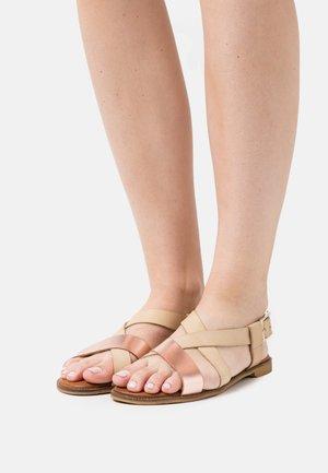 Sandals - beige/rosegold