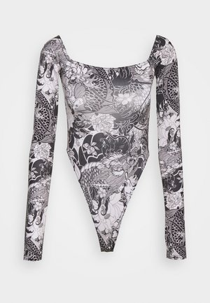 FLORAL FISH BODY - Body - black/white