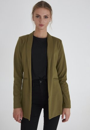 KATE LONG BL - Short coat - dark olive