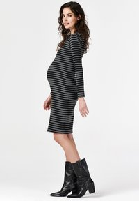 Supermom - STRIPE - Jersey dress - black - 1