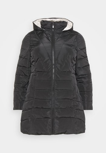 WATER RESISTANT LONGLINE PADDED COAT WITH SIDE ZIPS
