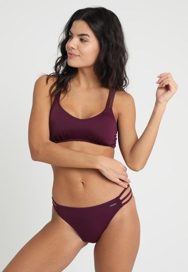 ALEXA BUSTIER SET - Bikini - bordeaux