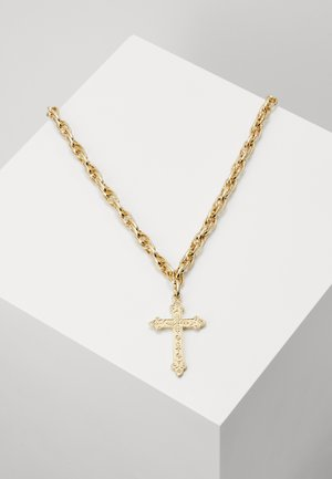 MEGA BLING CROSS - Collar - gold-coloured