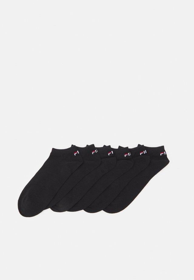 INVISIBLE PLAIN SOCKS UNISEX 6 PACK - Ponožky - black