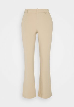 ONLROCKY MID FLARED PANT - Trousers - beige