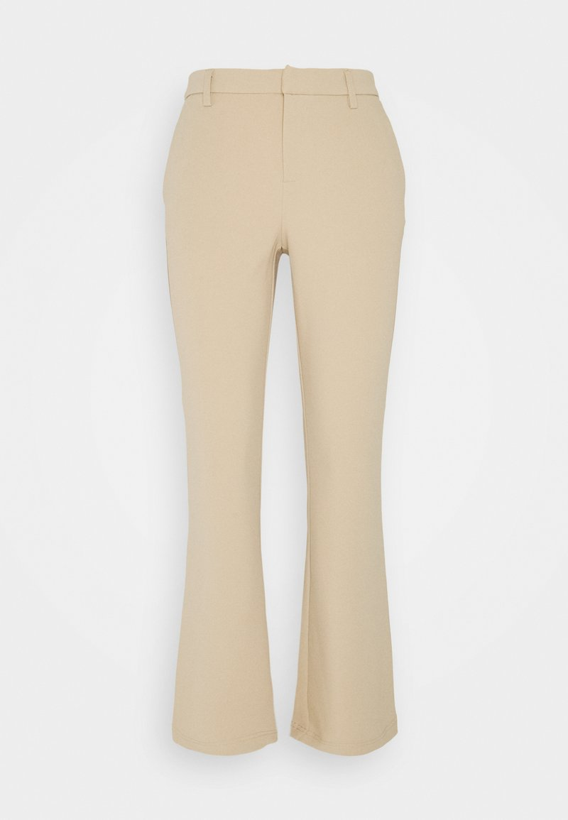 ONLY Petite - ONLROCKY MID FLARED PANT - Trousers - beige