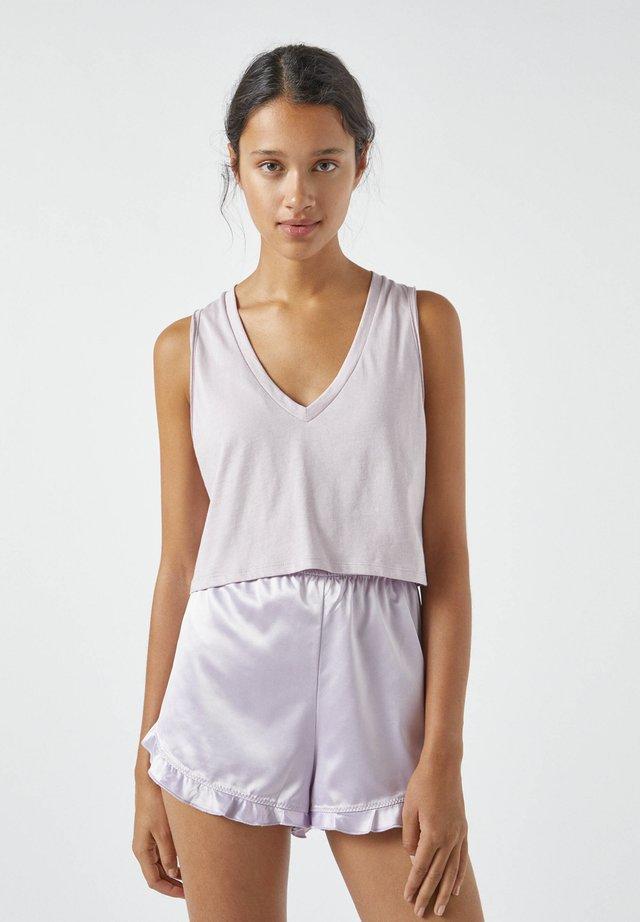 Pyjamashirt - mottled rose