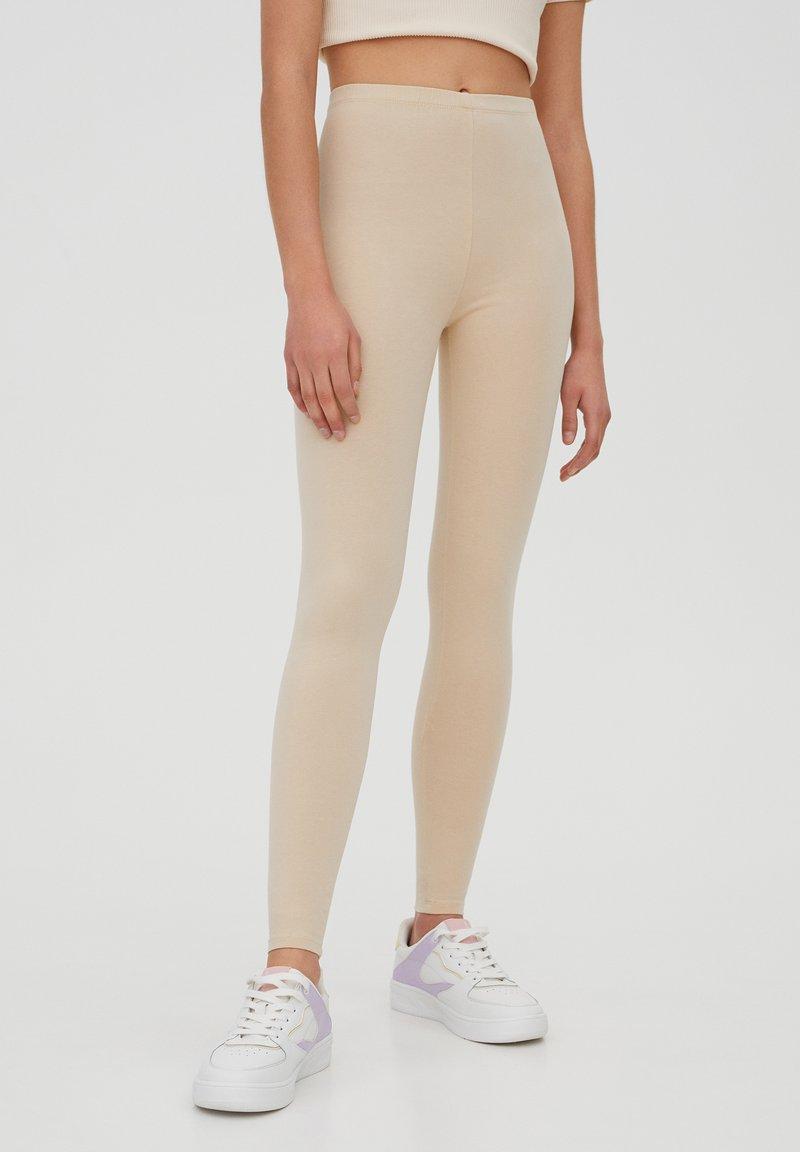 PULL&BEAR - Leggings - Trousers - beige