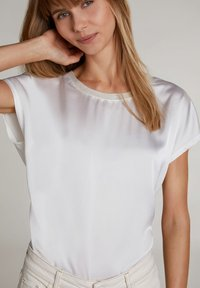 Oui - Basic T-shirt - cloud dancer - 3