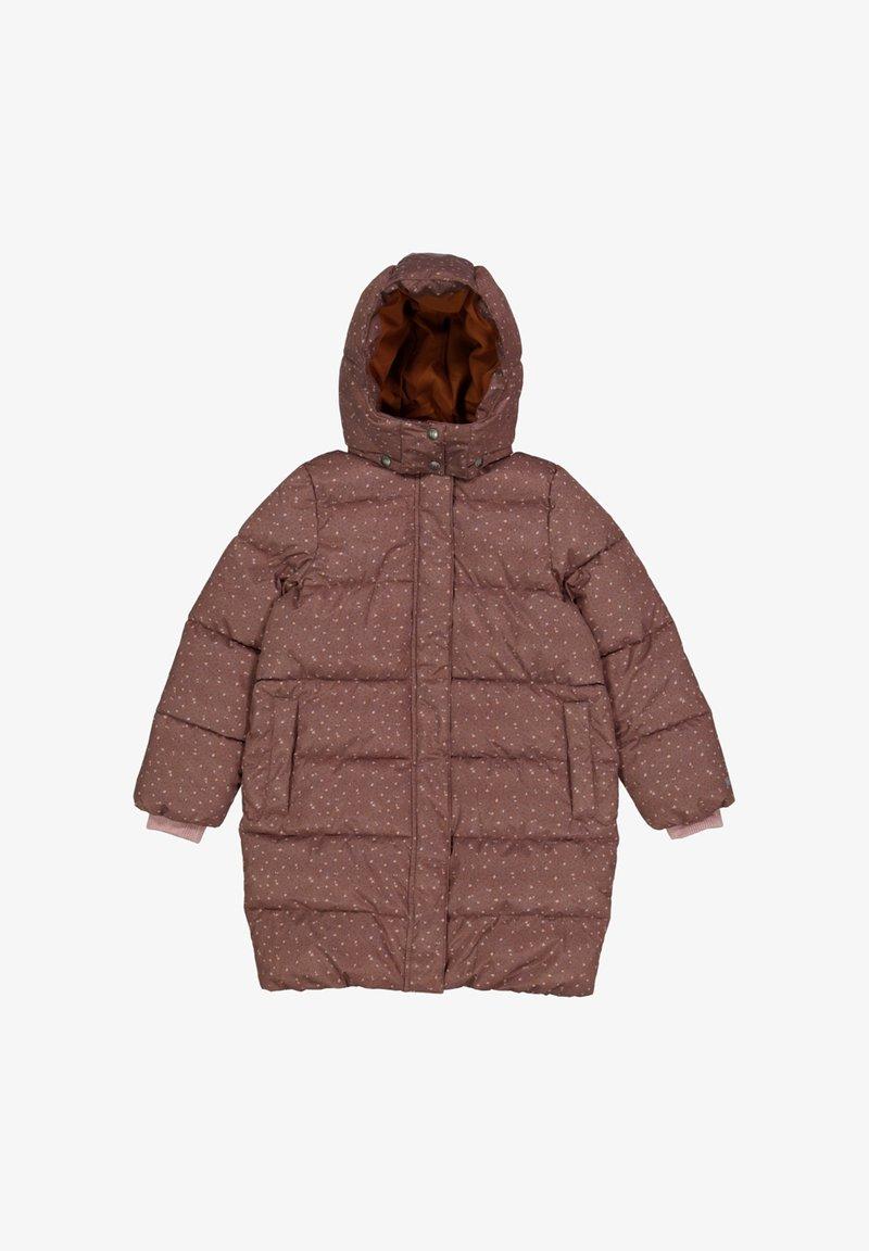 Wheat - Winter coat - powder plum dots
