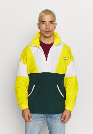 SAMSTAG SPORT INSPIRED TRACKSUIT JACKET - Windbreaker - yellow/white/green