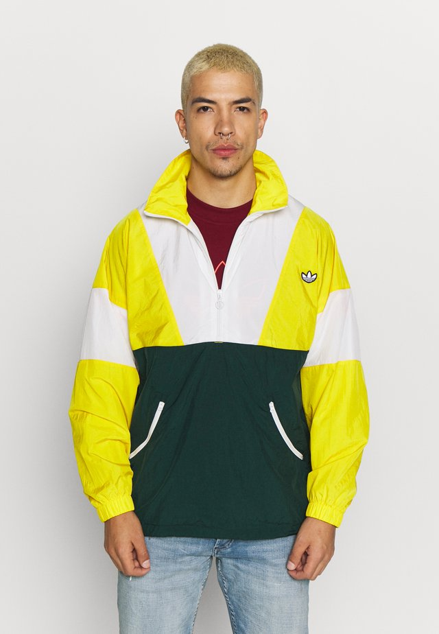SAMSTAG SPORT INSPIRED TRACKSUIT JACKET - Windbreaker - yellow/white/green
