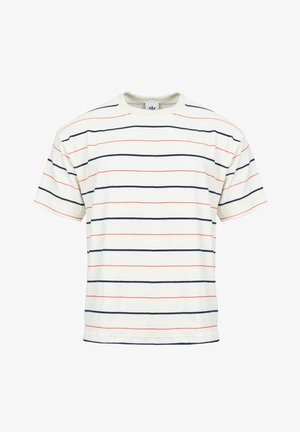 VELOUR - T-shirt con stampa - oyster white / navy / scarlet