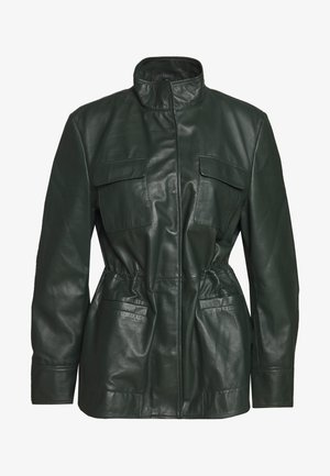 JACKIE - Leather jacket - dark green