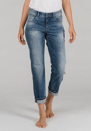 DARLEEN TU TAPE MIT SCHMUCKSTEINEN - Slim fit jeans - blau