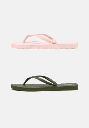 2 PACK - Sandály s odděleným palcem - khaki/pink