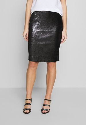 SEQUINS SKIRT - Pencil skirt - black