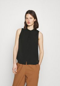 Anna Field - Sleeveless Blouse with gathers - Blouse - black - 0